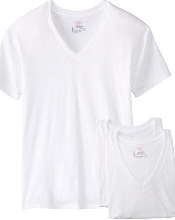 Hanes FreshIQ ComfortSoft V-Neck Undershirt 3-Pack