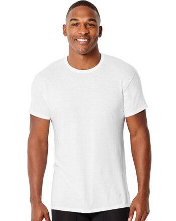 Hanes Men's Comfort Fit CrewNeck Undershirts 4 Pack