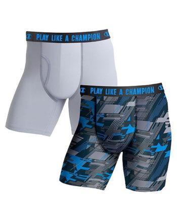 Champion USA Men's Ultra Lightweight Regular Leg Boxer Brief 2-Pack
