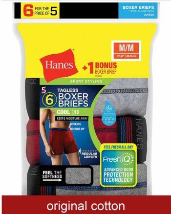 Hanes Men's Sport-Inspired Boxer Briefs 6-Pack