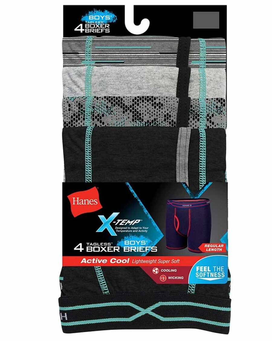 Hanes X-Temp® Boys' Boxer Brief 4-Pack