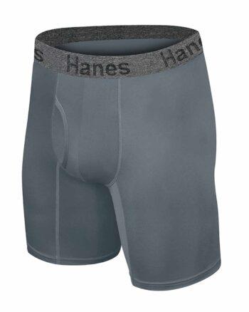 Hanes Men's Ultra Soft Long Leg Boxer Briefs 3-Pack