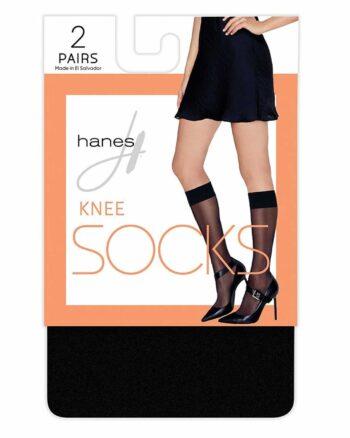 Hanes Knee High Socks 2 Pair, One size
