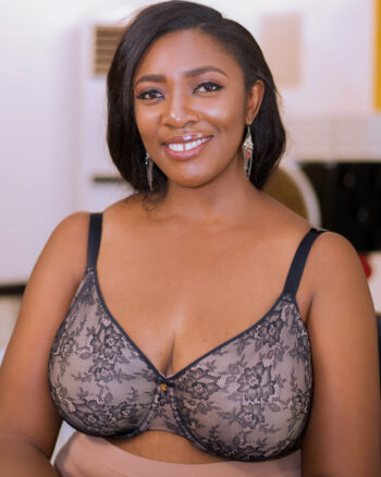 Curvy Couture All Over French Lace Side Smoothing Bra