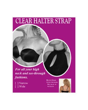 Braza Clear Halter & Racerback Straps, One size