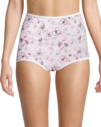 Bali Skimp Skamp Cool Cotton Brief Pack of 3,  Nude/Pink/Floral