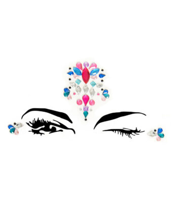 Adhesive Face Jewels Sticker, One Size