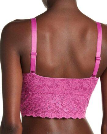 Curvy Couture Pink Longline Lace Wireless Bra
