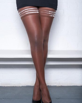 Nubian Skin Matt 10 Denier Hold-Ups Berry