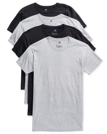 Hanes Boys Tagless Crewneck T-Shirt 4 Pack