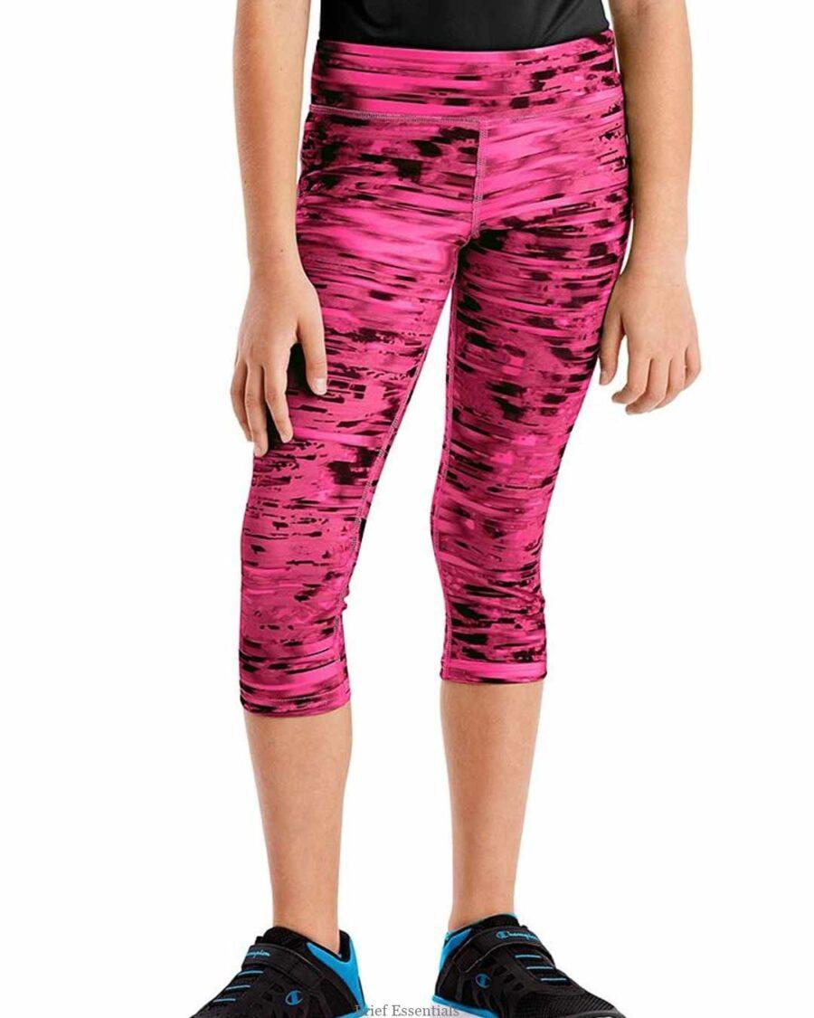 Hanes Sport™ Girls' Performance Pink Capri