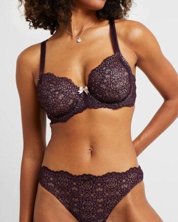 DORINA Abigail 2 Pack Brazilian Brief Panties, Dark Red / Black