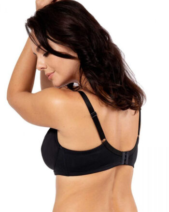 DORINA Curves Faith Pack of 2 Unlined Wire Bras, Black/Red
