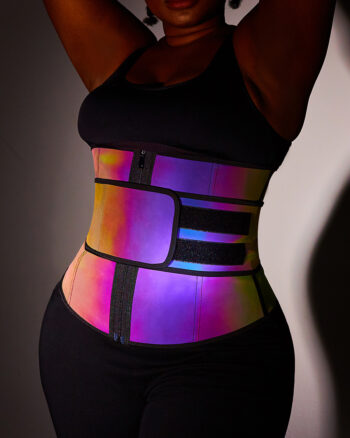 Latex Reflective Waist Trainer with Velcro