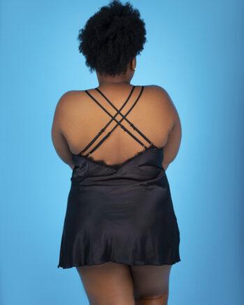 BE Curvy Girl Belle Chemise, Black