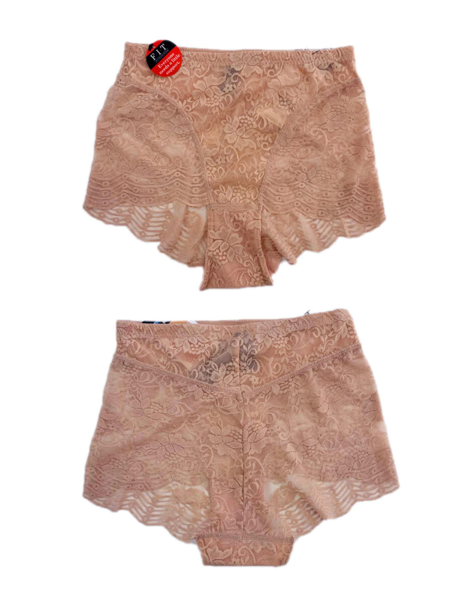 Take Control High Waist Lace Brief, Nude